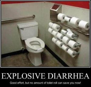 what causes yellow diarrhea