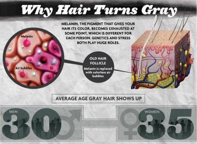 cause of gray hair