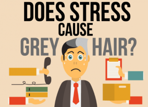 does stress cause gray hair